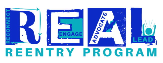 REAL Reentry Program Logo - Reconnect, Engage, Advocate, Lead